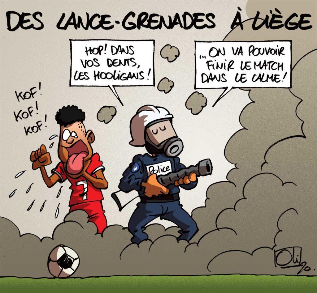 Lance-grenades à la Police de Liège
