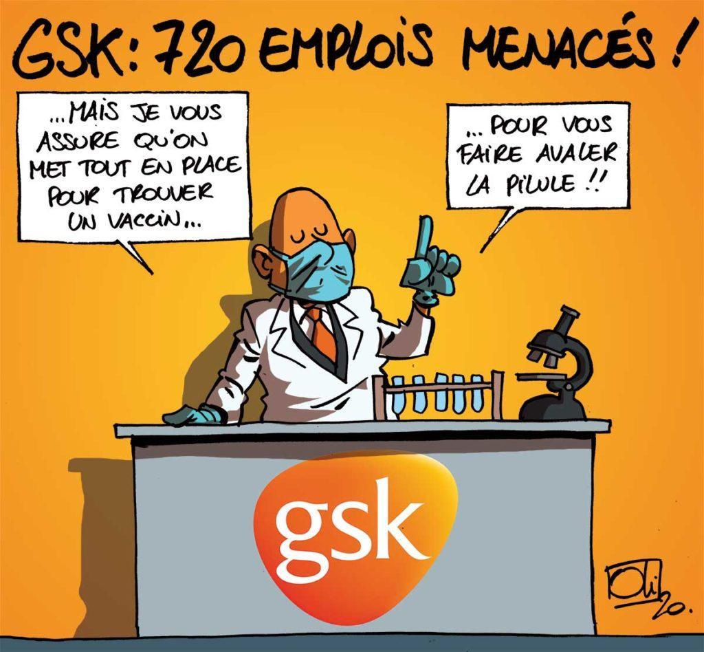 720 emplois menacés chez GSK