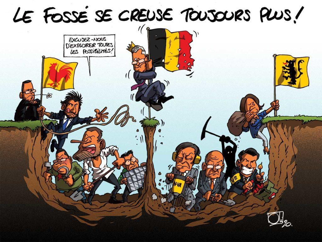 Le fossé se creuse en Belgique