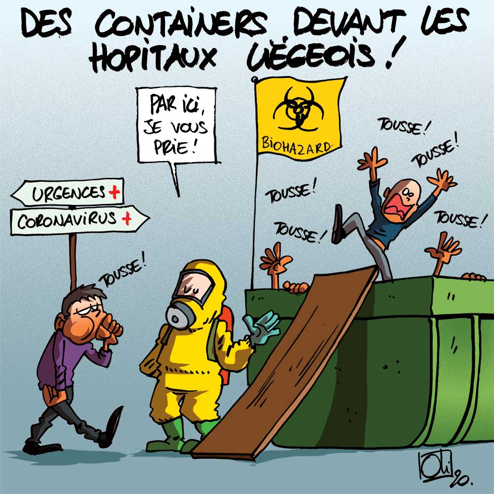Le coronavirus en container