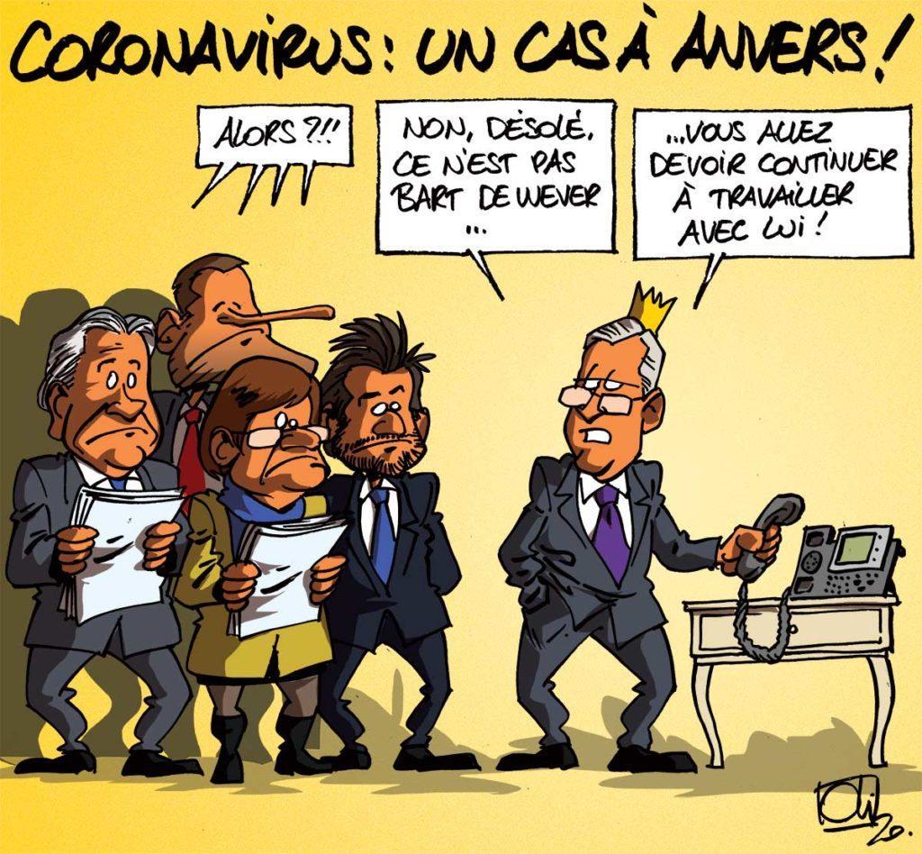 Le Coronavirus en Belgique !