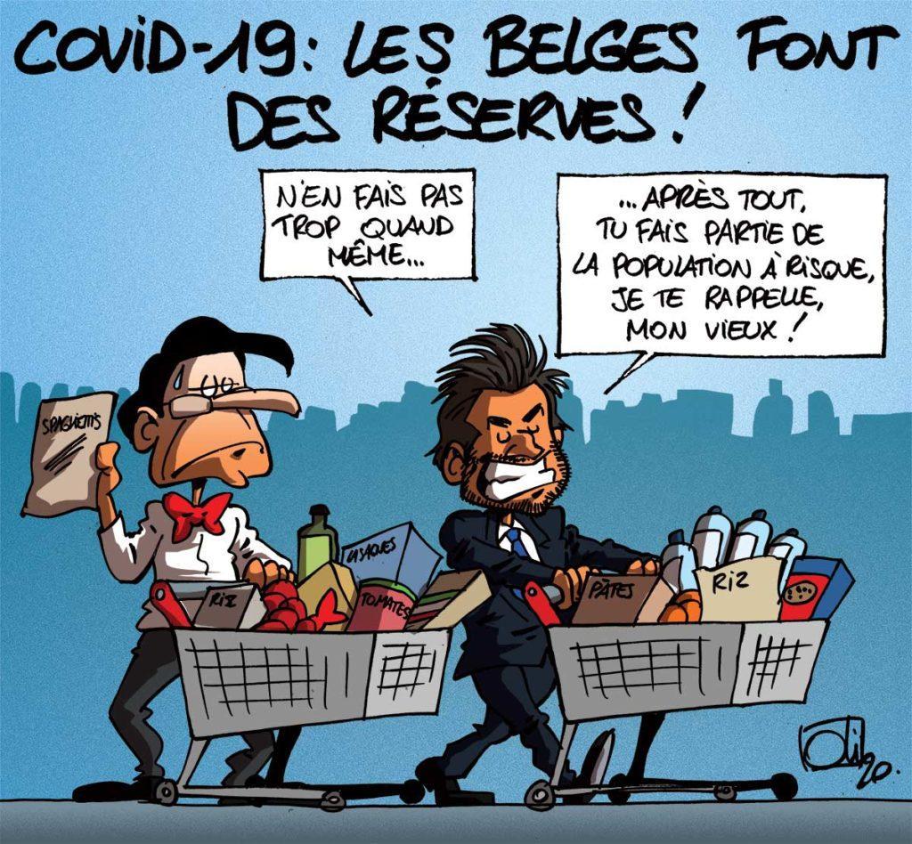 Les belges font des réserves