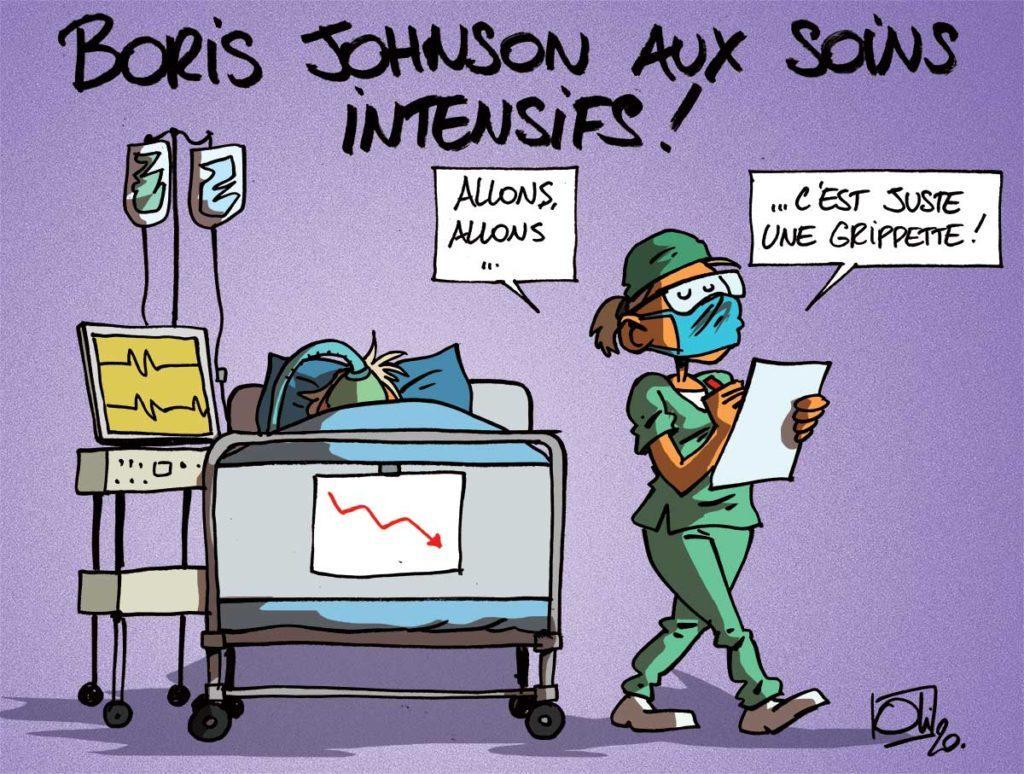Boris Johnson aux soins intensifs !