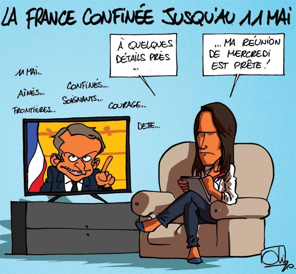 La France confinée jusqu'au 11 mai !