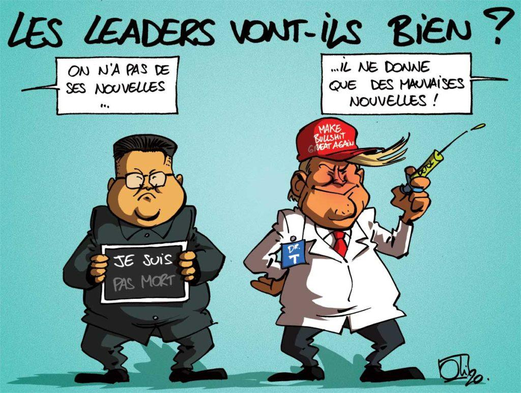 Kim Jong-Un et Donald Trump vont bien...