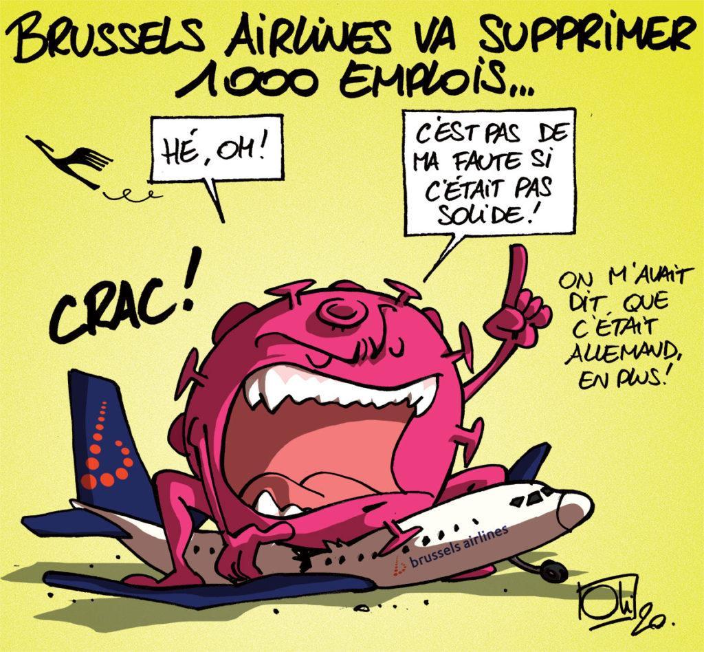 Brussels Airlines va supprimer 1000 emplois