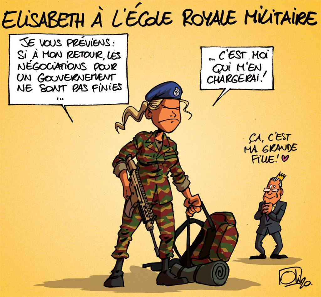 Elisabeth à l'école royale militaire