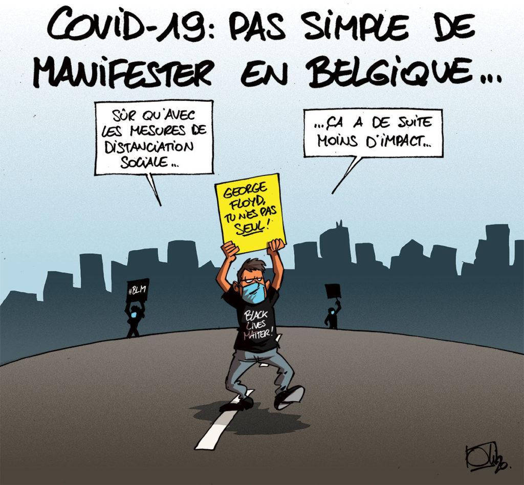 La Belgique se mobilise pour George Floyd