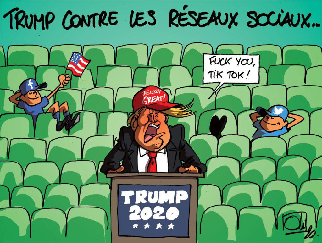 Trump battu par Tik Tok