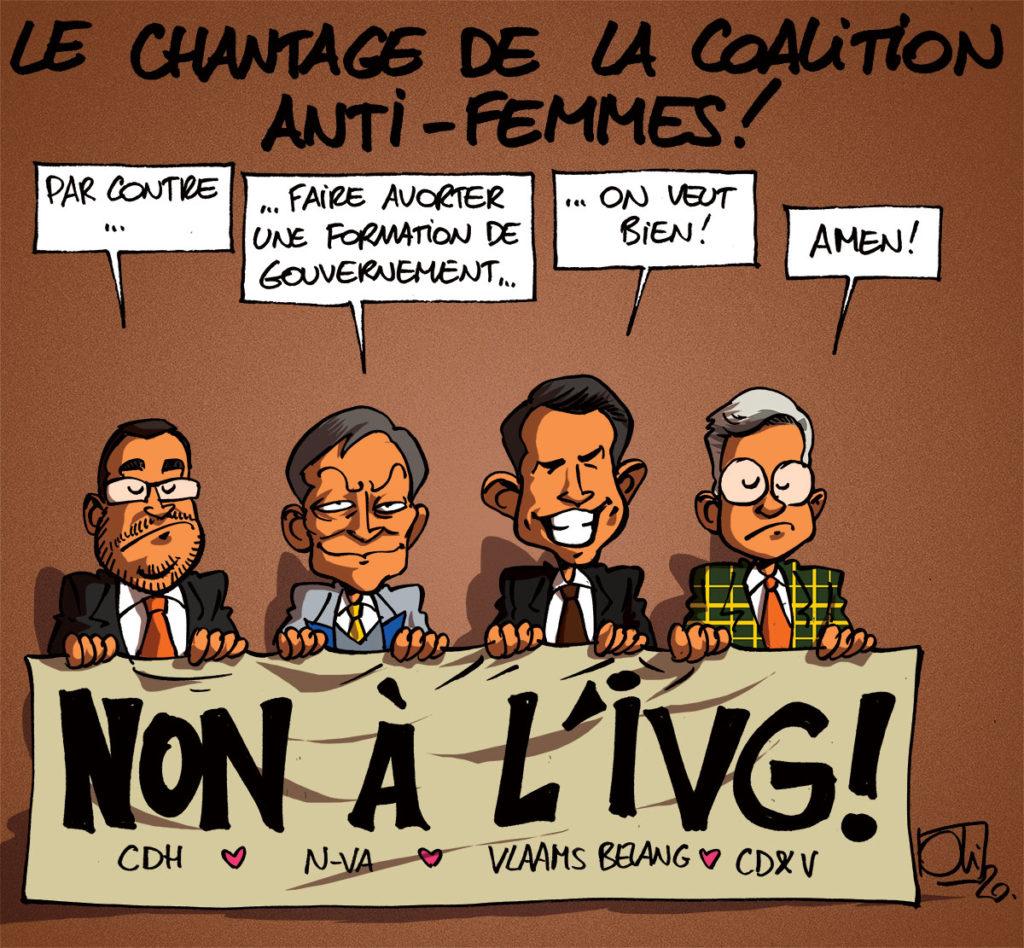 L'IVG avortée par le CDH, le CD&V, la N-VA et le Vlaams Belang ?