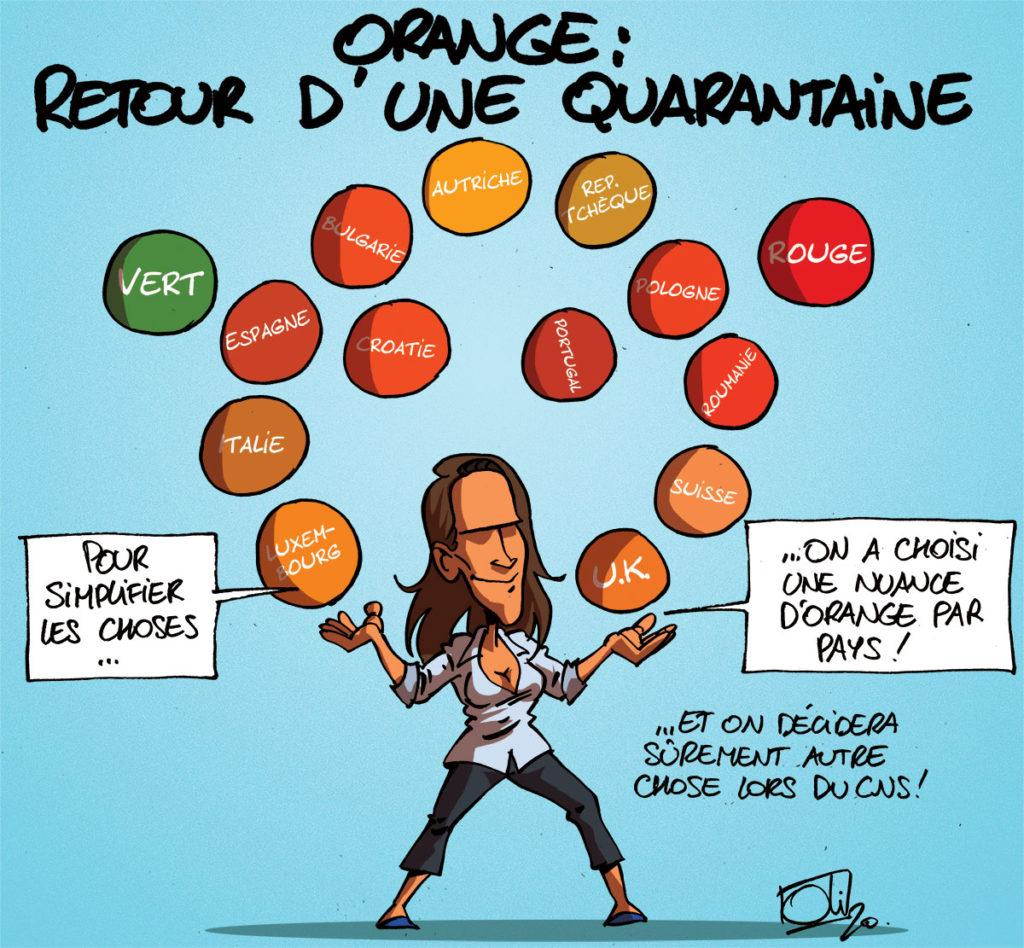 Orange : quarantaine ou pas quarantaine, finalement ?
