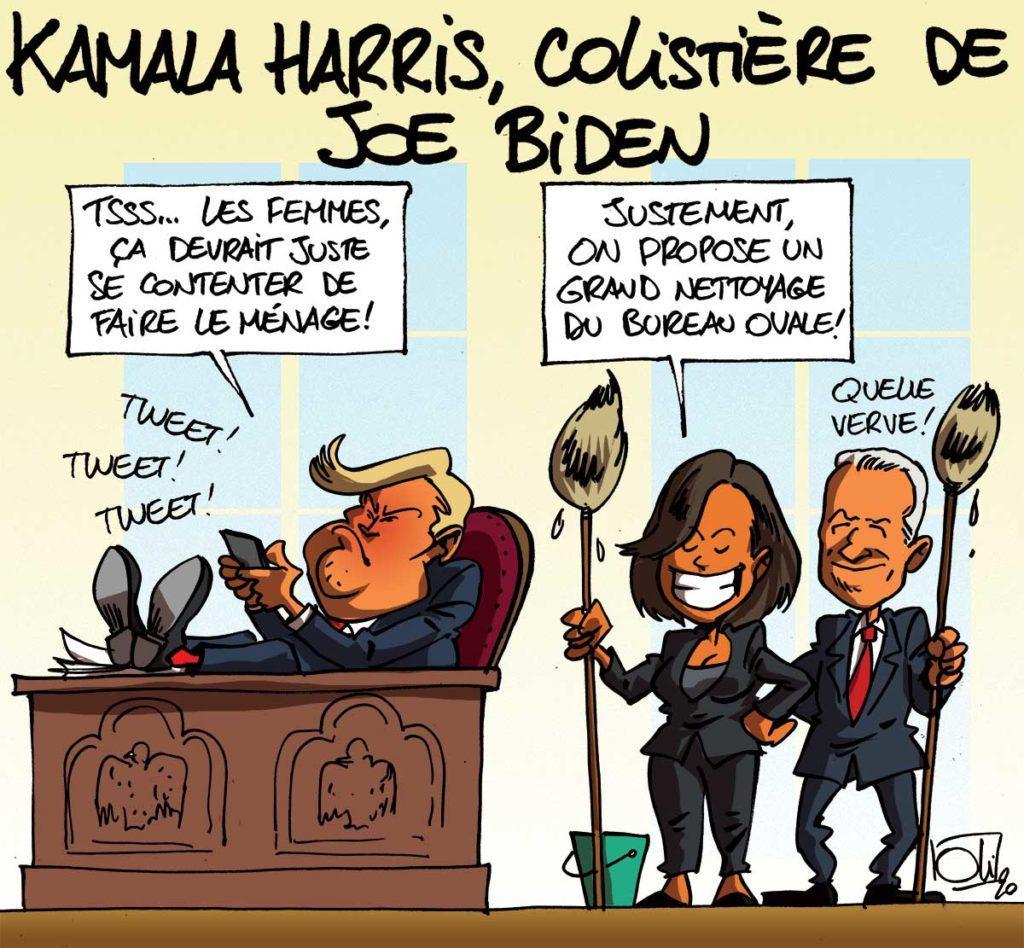 Kamala Harris aux côtés de Joe Biden