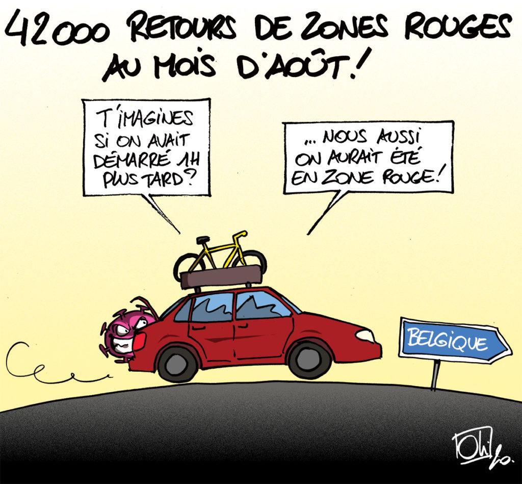 Retours de zones rouges