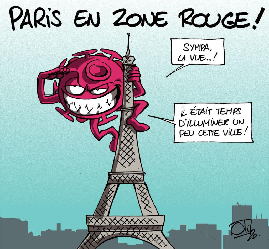 Paris en zone rouge !