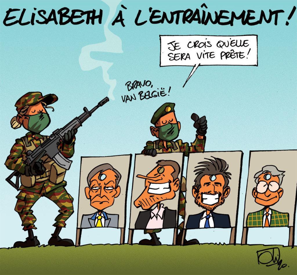 Elisabeth à l'armée !