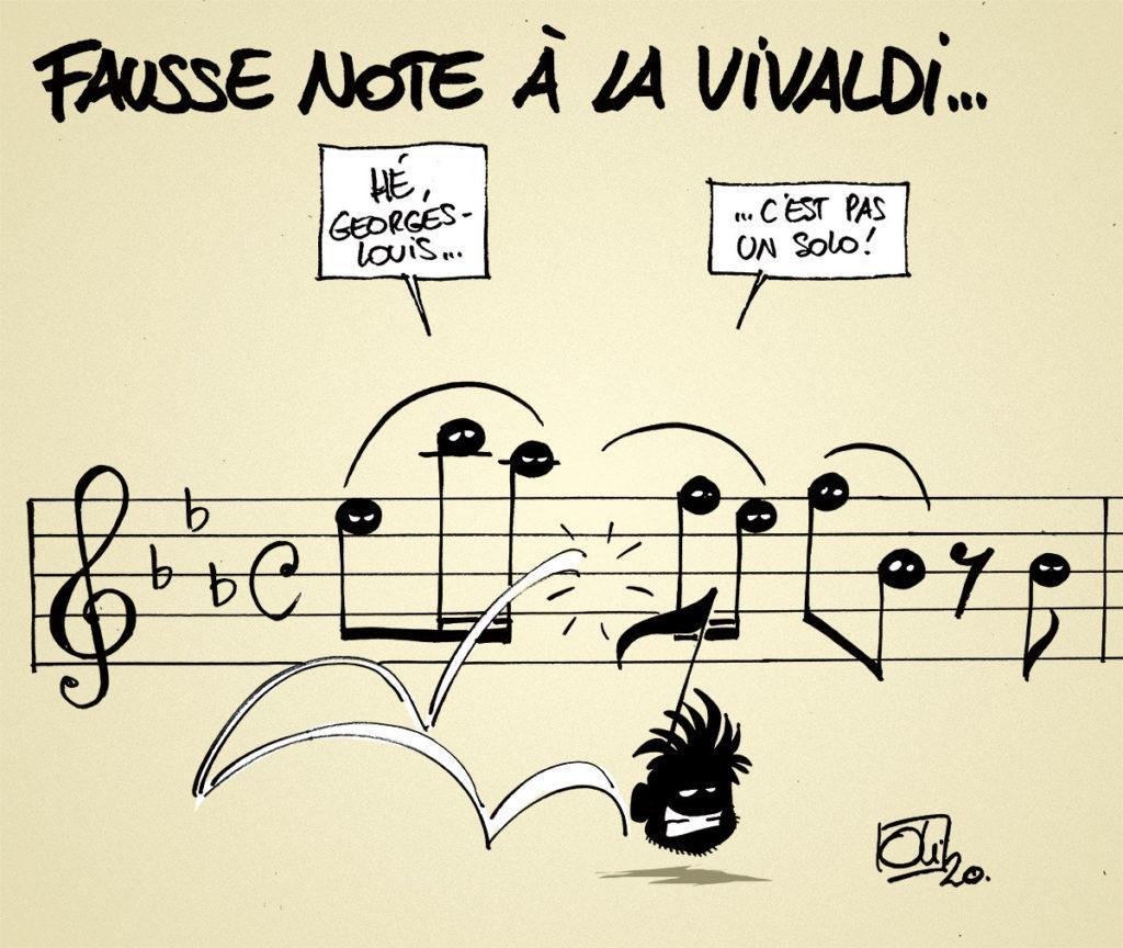 Vivaldi sonne faux...