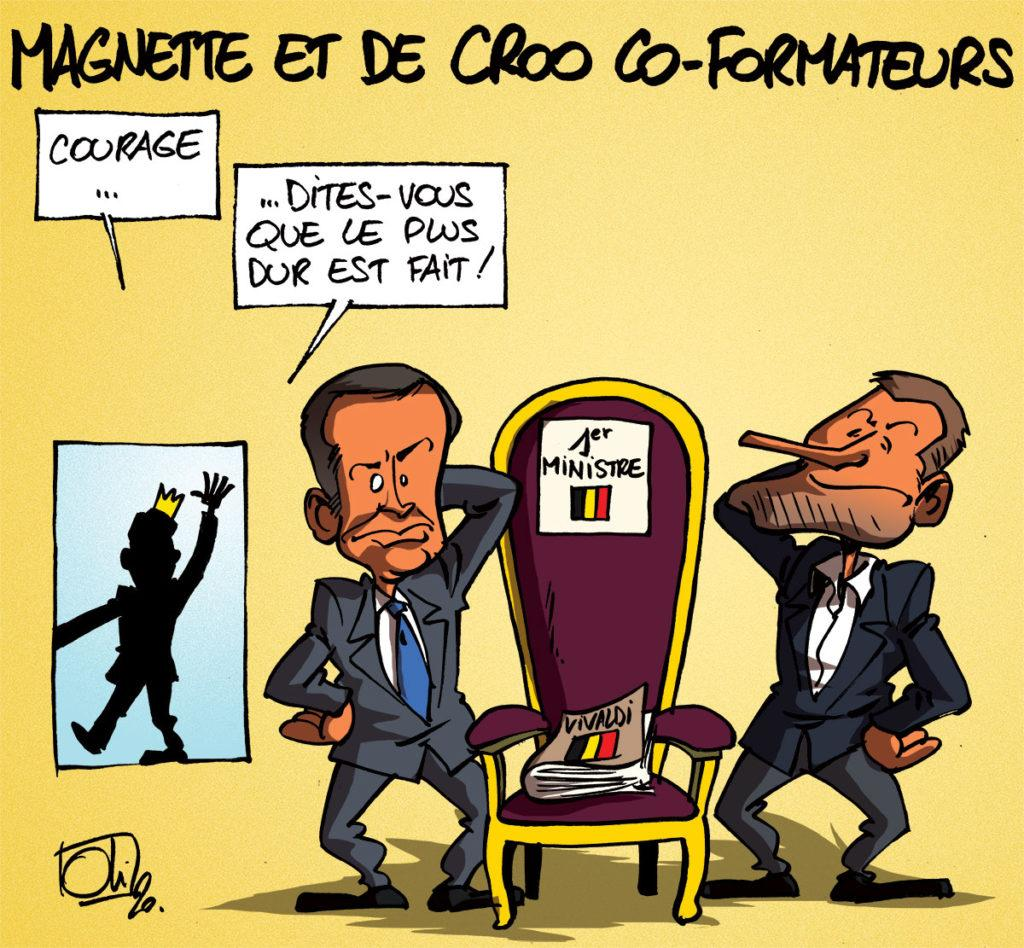 De Croo et Magnette co-formateurs !