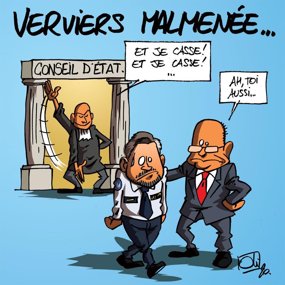 Le conseil d'état casse Verviers
