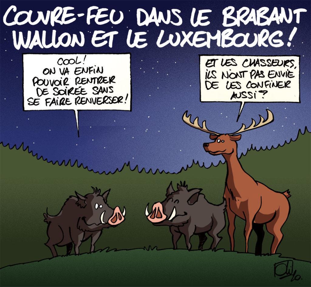 Couvre-feu pour le Brabant Wallon et le Luxembourg