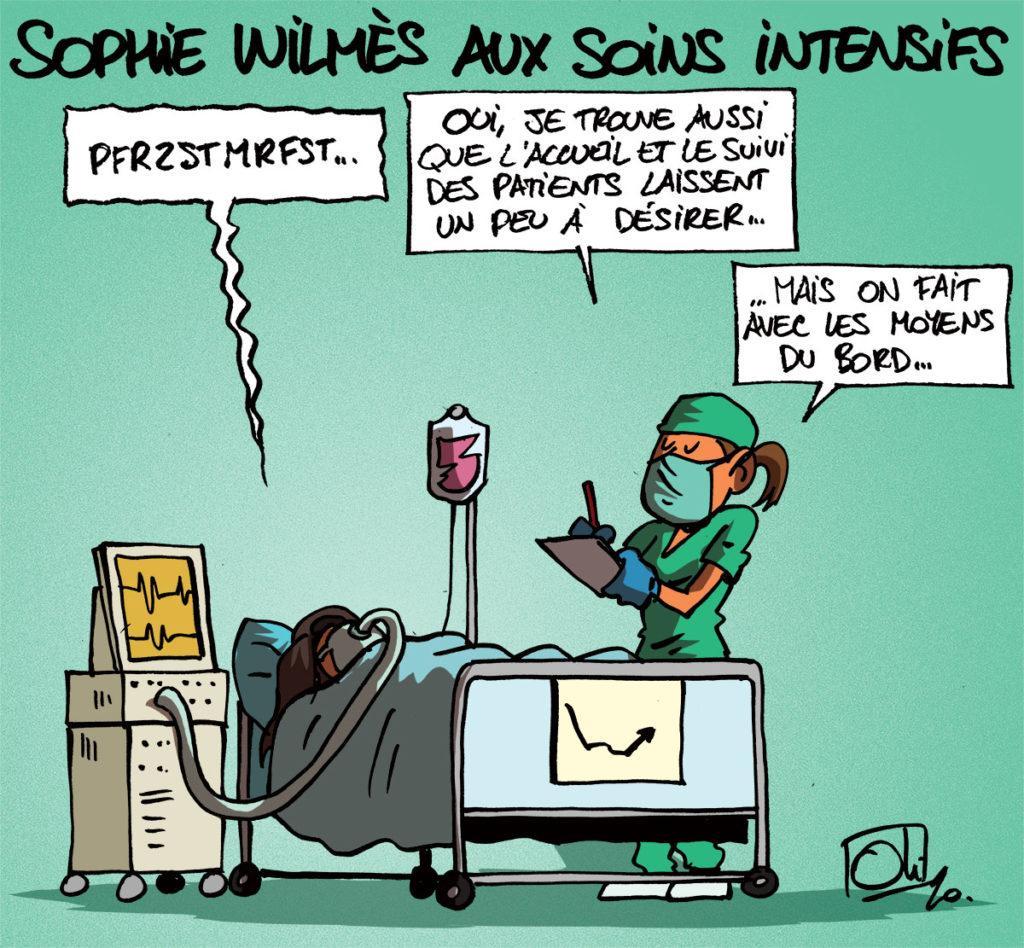 Sophie Wilmès aux soins intensifs