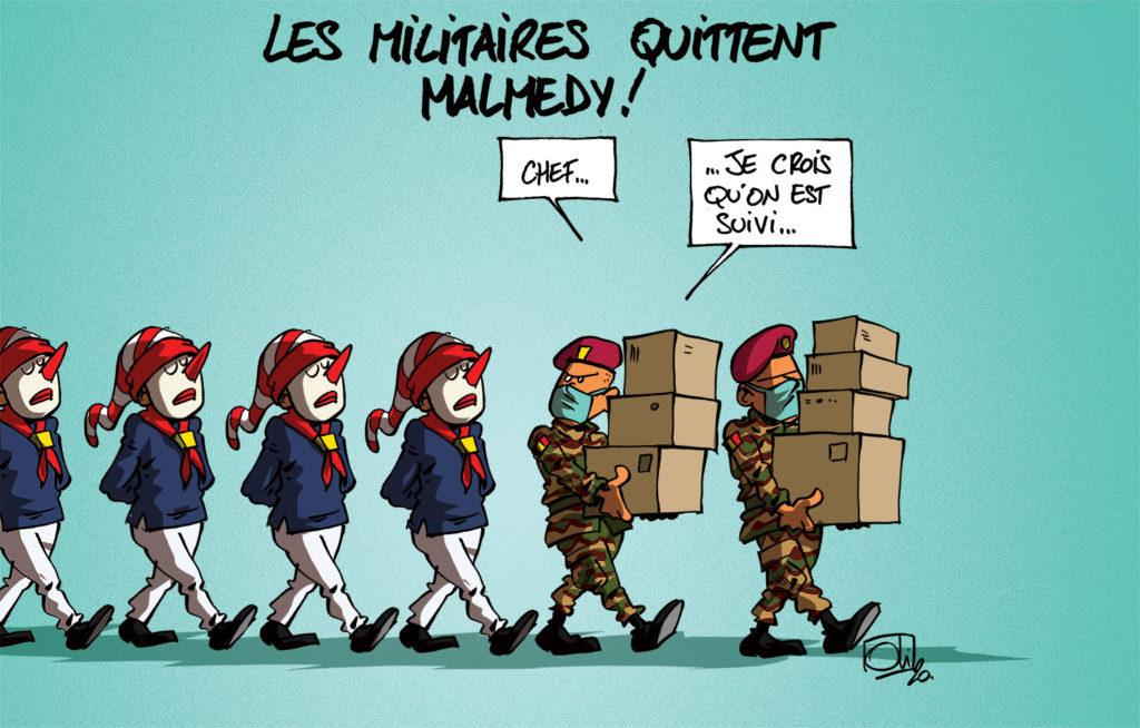 Les militaires quittent Malmedy