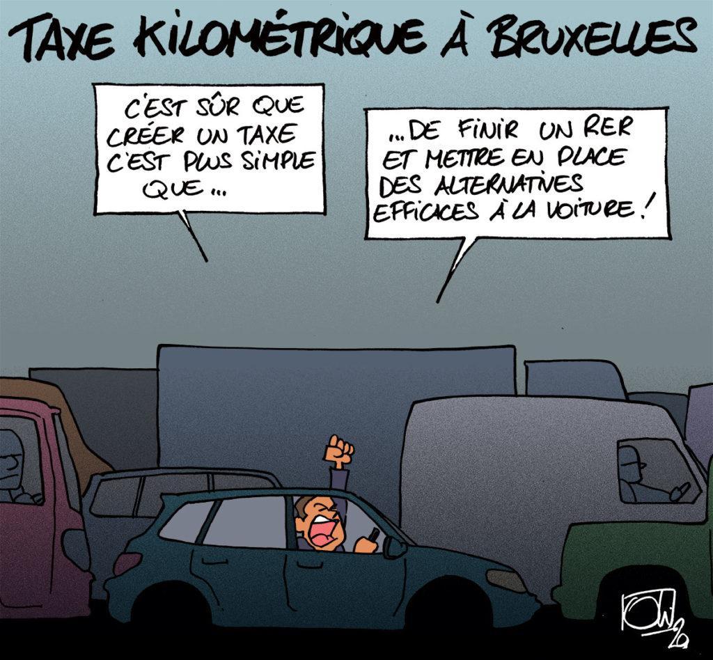 Taxe au kilomètre à Bruxelles