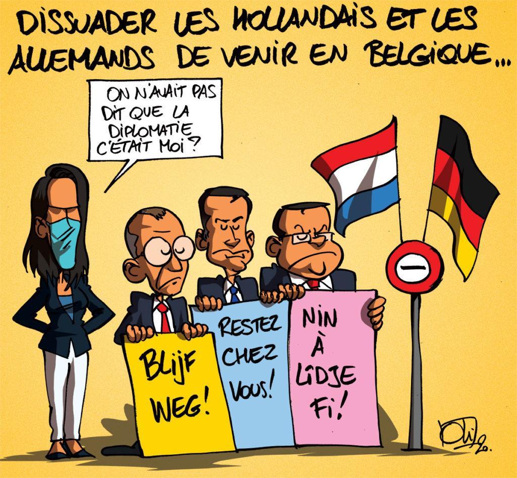 La Belgique craint la venues des hollandais et allemands