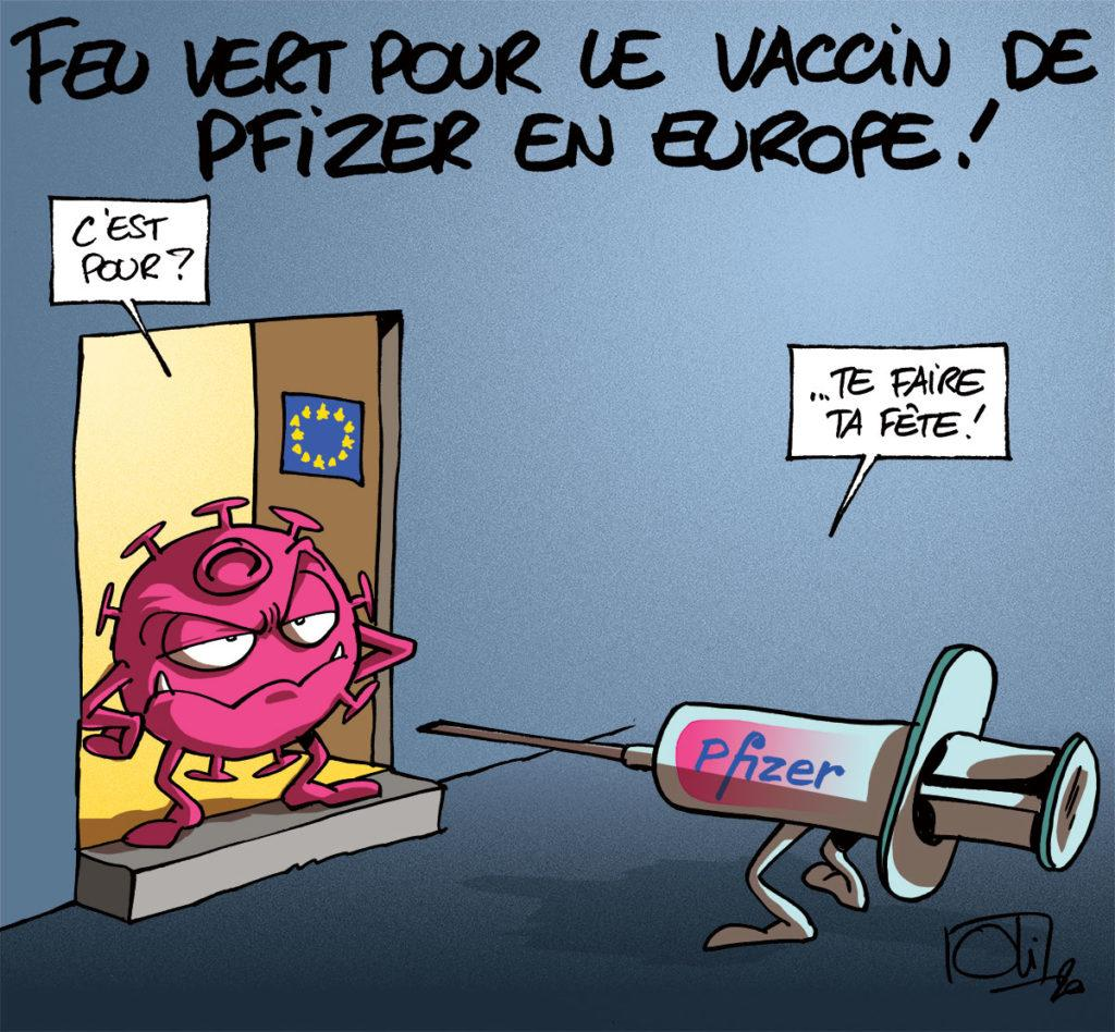 Le vaccin de Pfizer - BioNTech autorisé en Europe