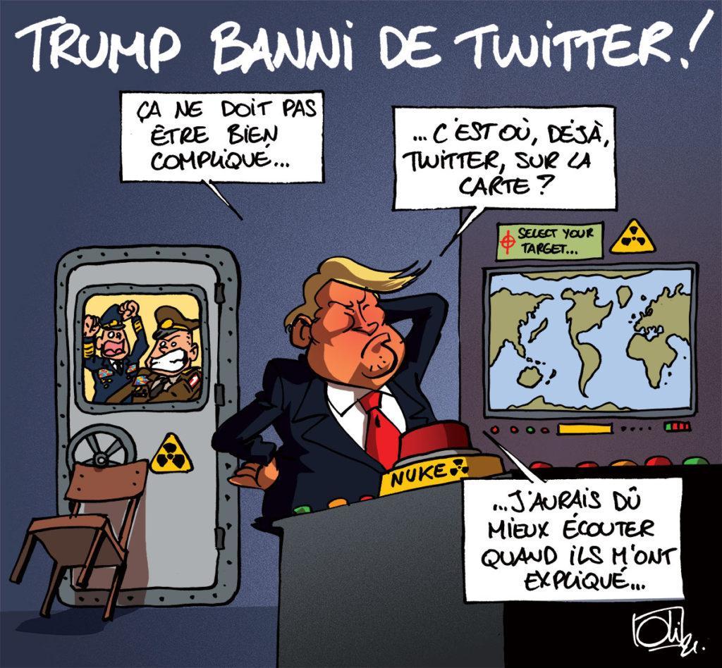 Twitter banni Trump !