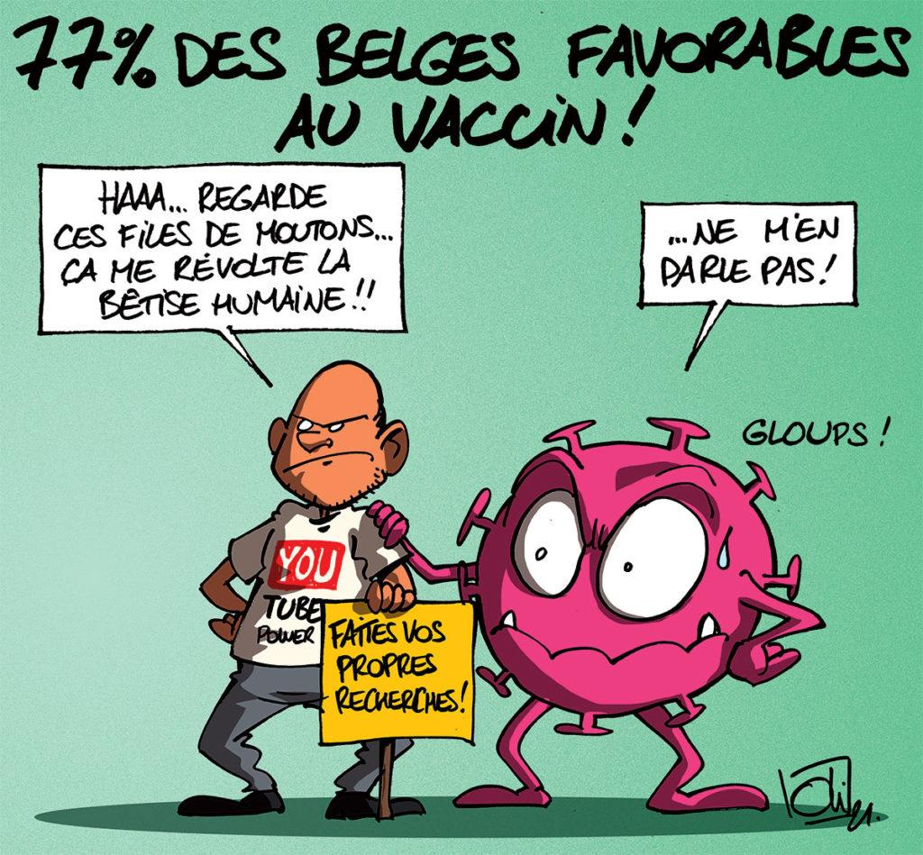 77% des belges favorables aux vaccins Covid-19