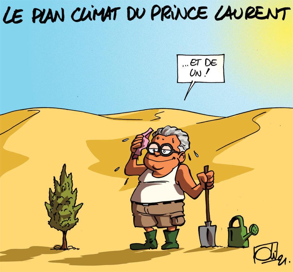 Le prince Laurent pour le climat