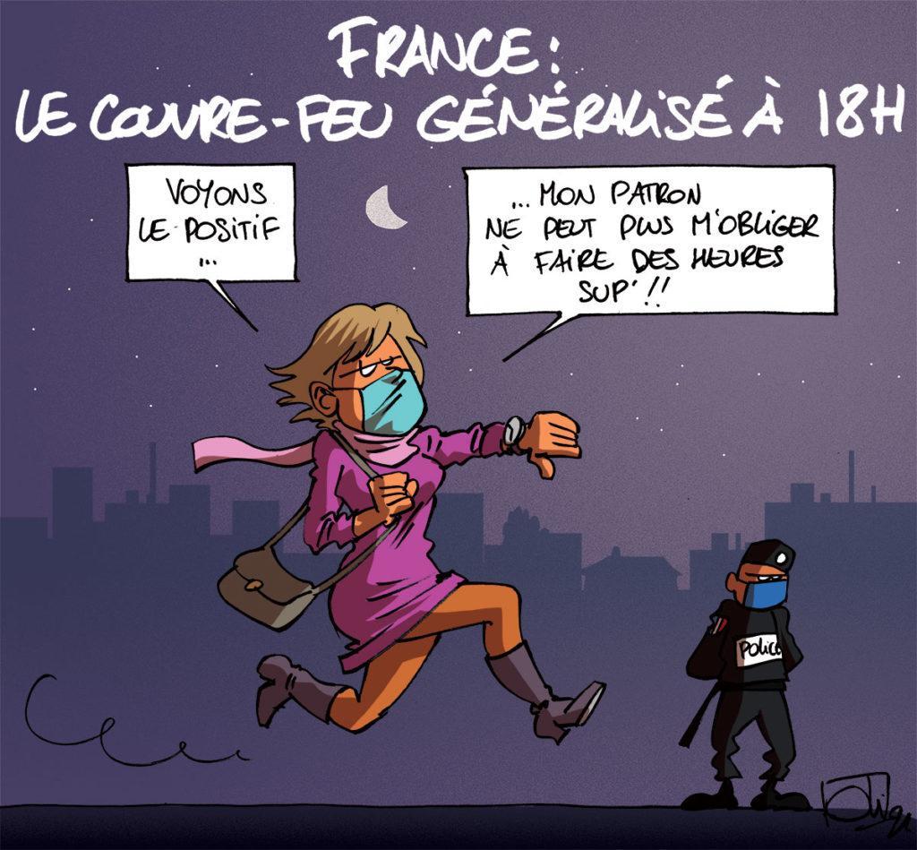 Couvre-feu à 18h partout en France