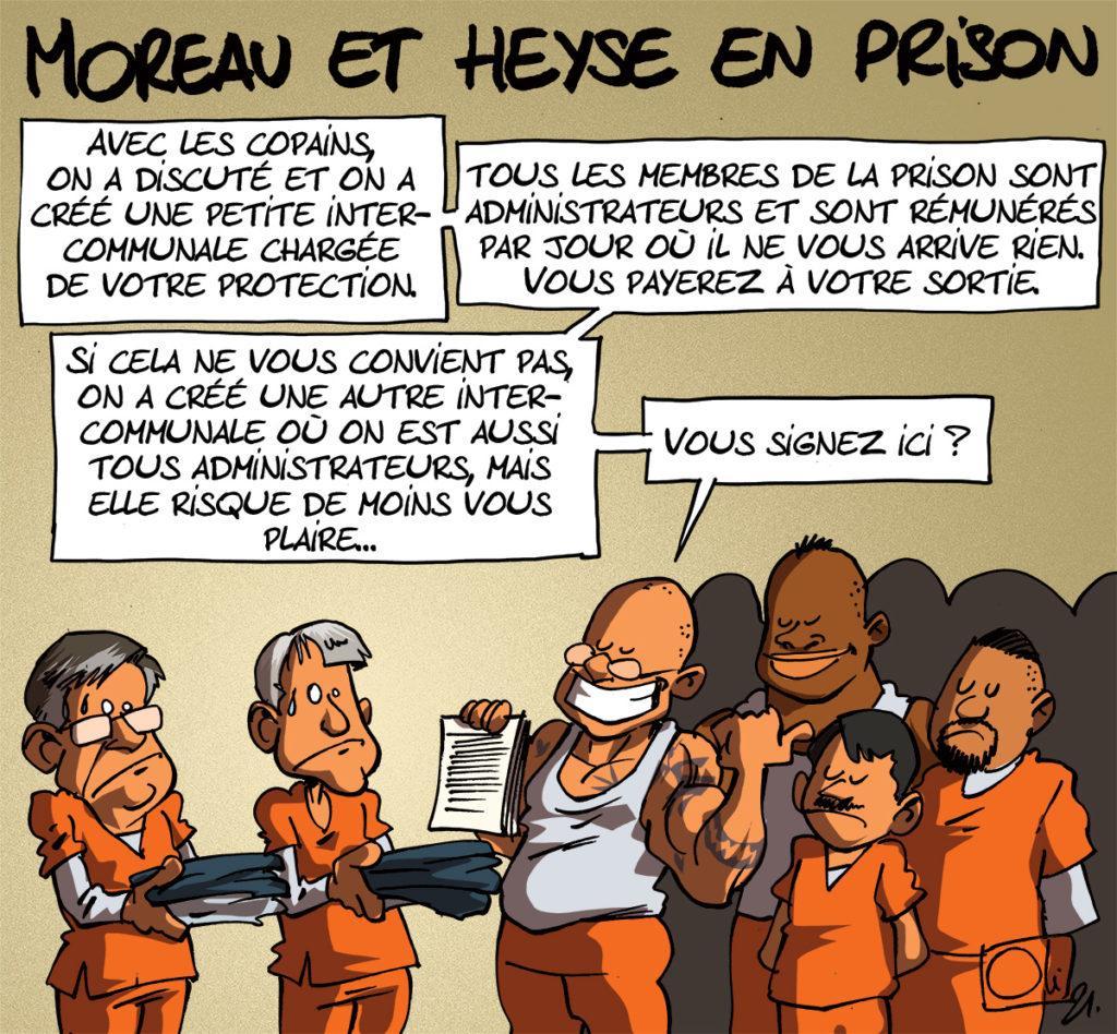 Stéphane Moreau et Pol Heyse en prison