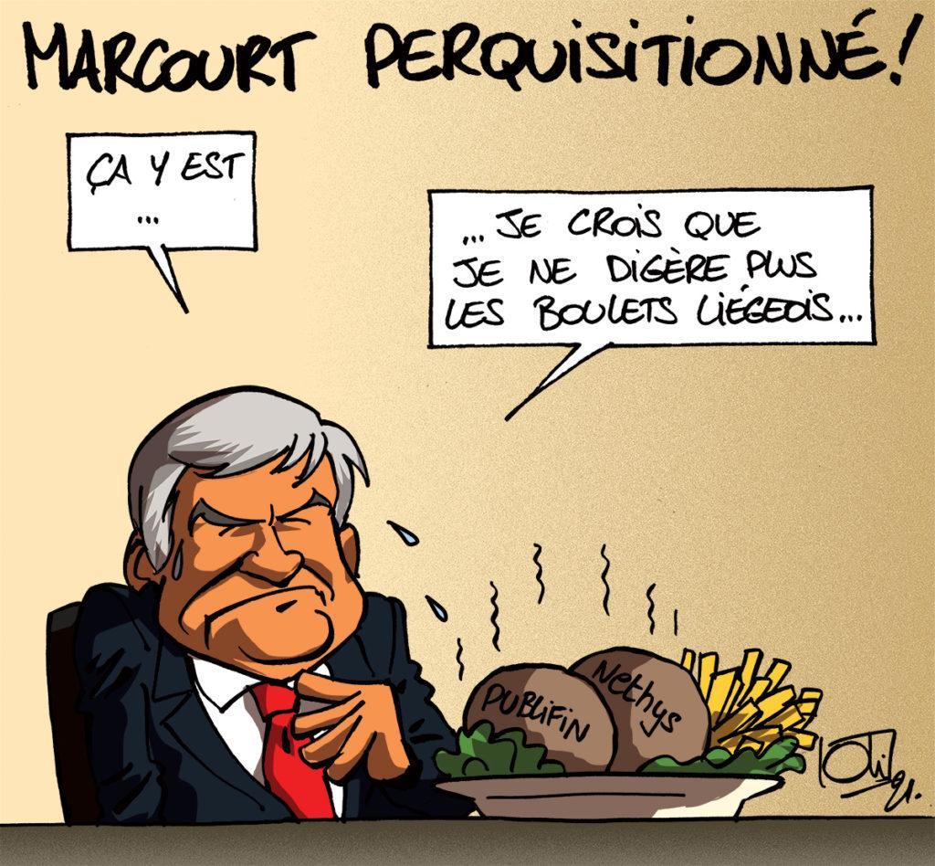 Marcourt perquisitionné