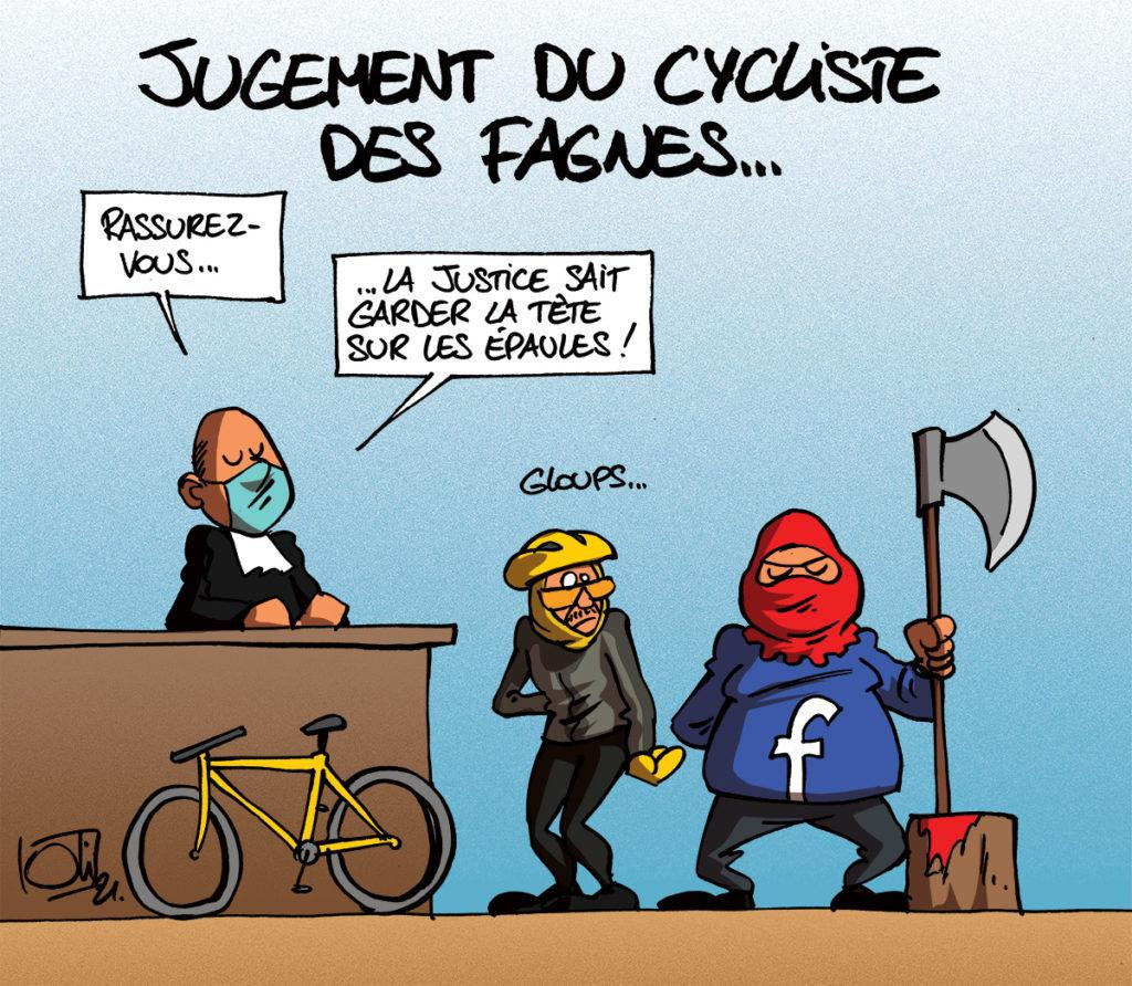 Le cycliste des Fagnes passe devant le juge !