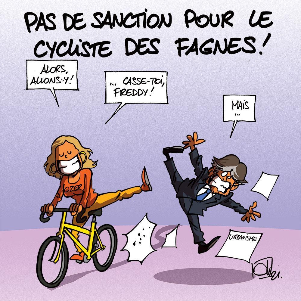 Pas de sanction pour le cycliste des Fagnes
