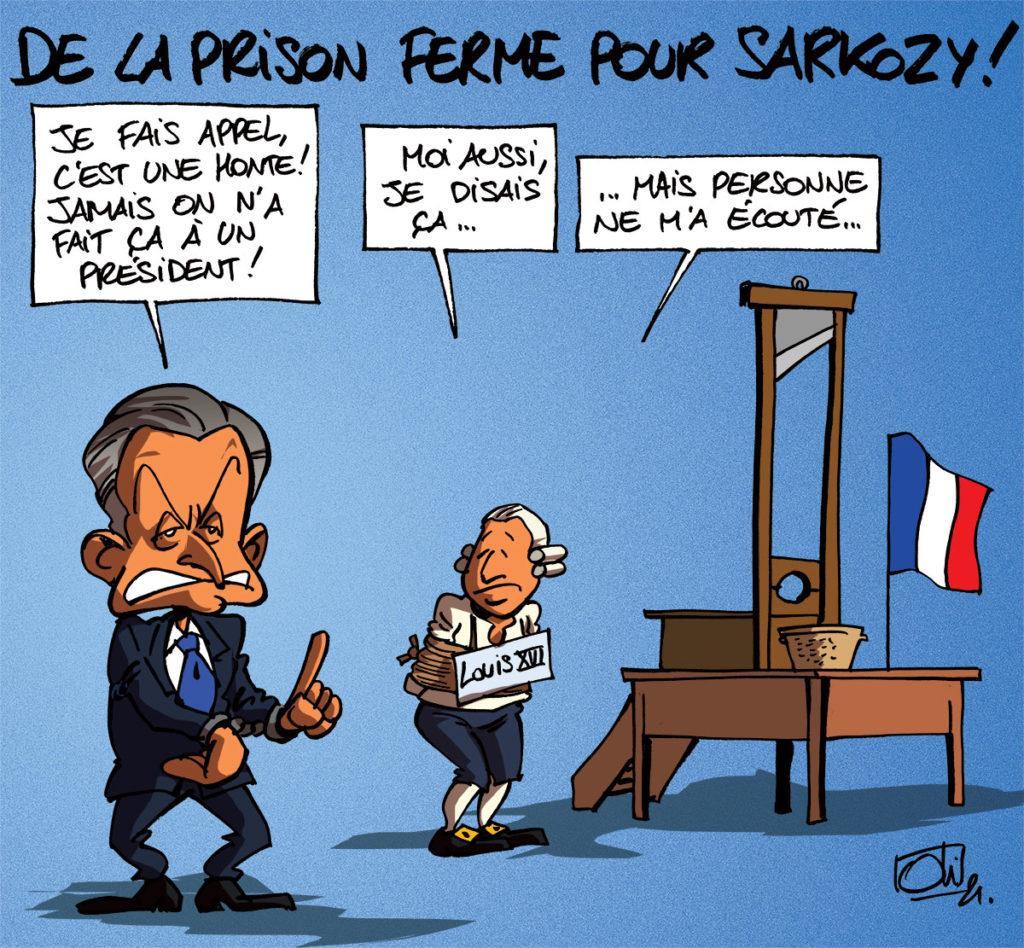 Nicolas Sarkozy condamné à 3 ans dont 1 ferme