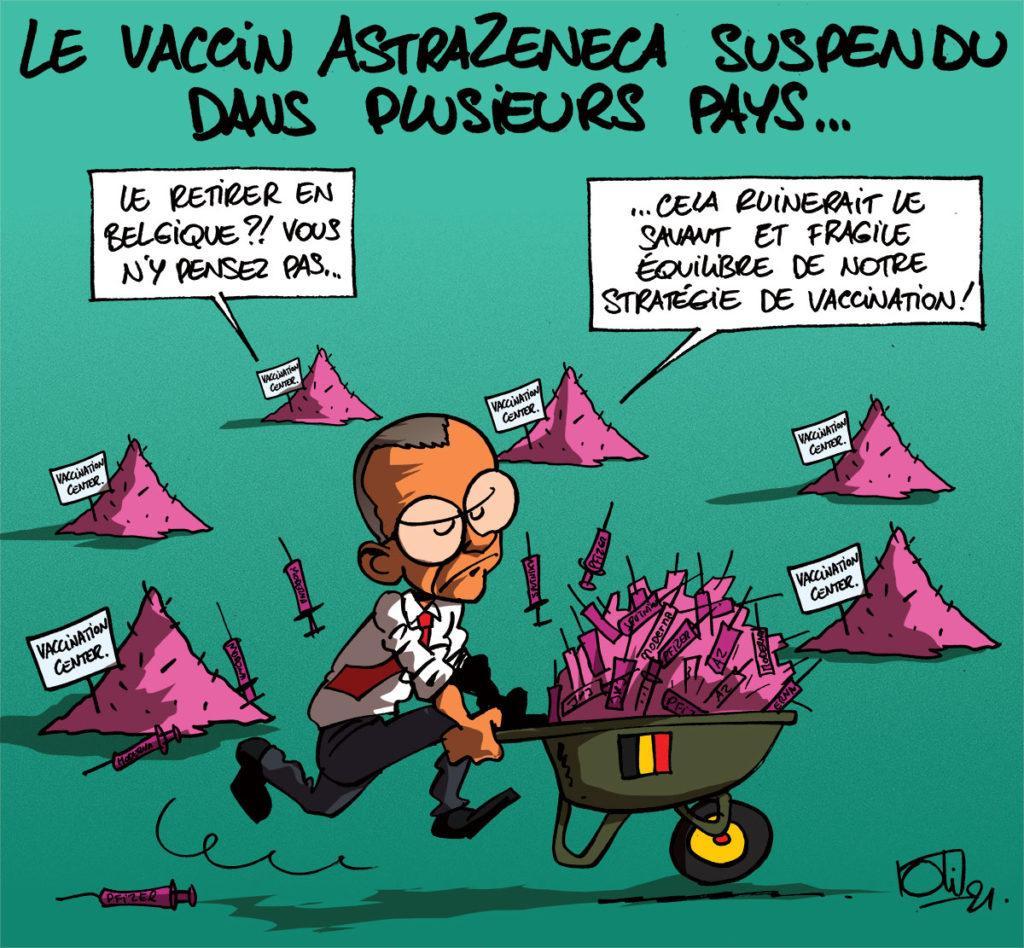 AstraZeneca suspendu dans divers pays