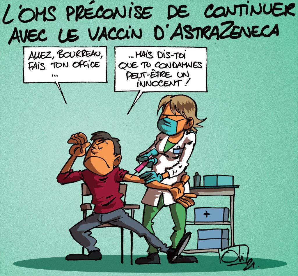 L'OMS ne rejette pas l'AstraZeneca