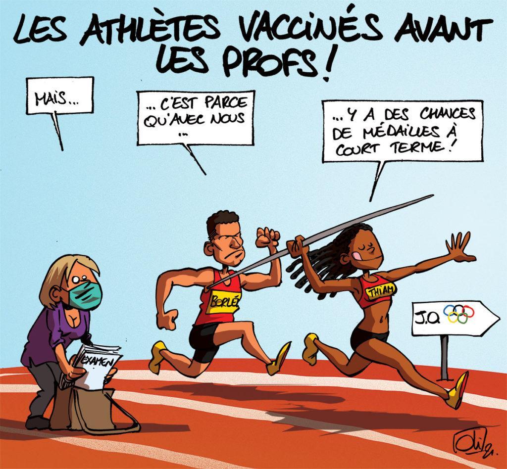 Vaccin : les athlètes avant les profs !