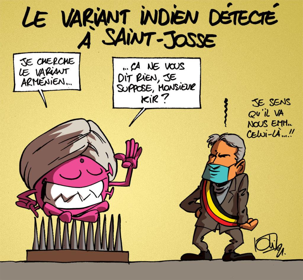 Le variant indien est à Bruxelles
