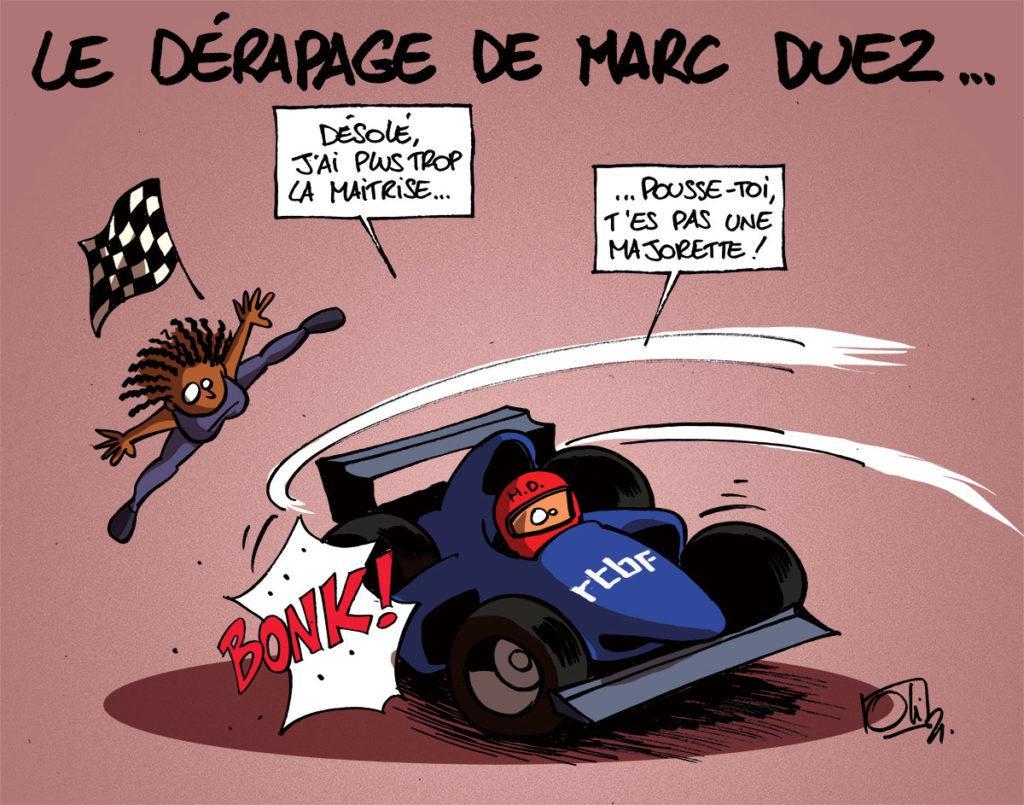 Dérapage pour Marc Duez