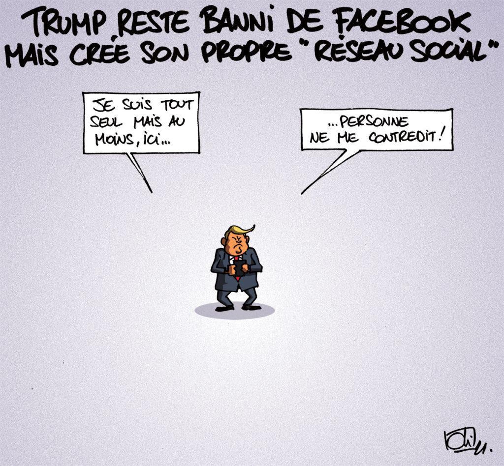 Trump reste banni de Facebook