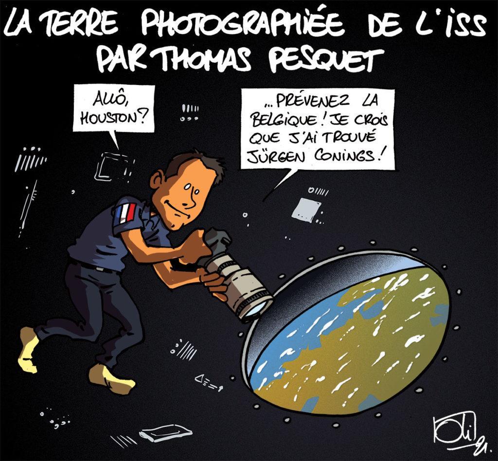 Jürgen vu de l'ISS ?