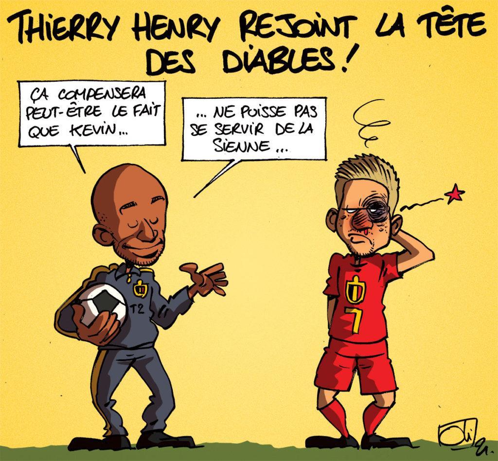 Thierry Henry avec les belges