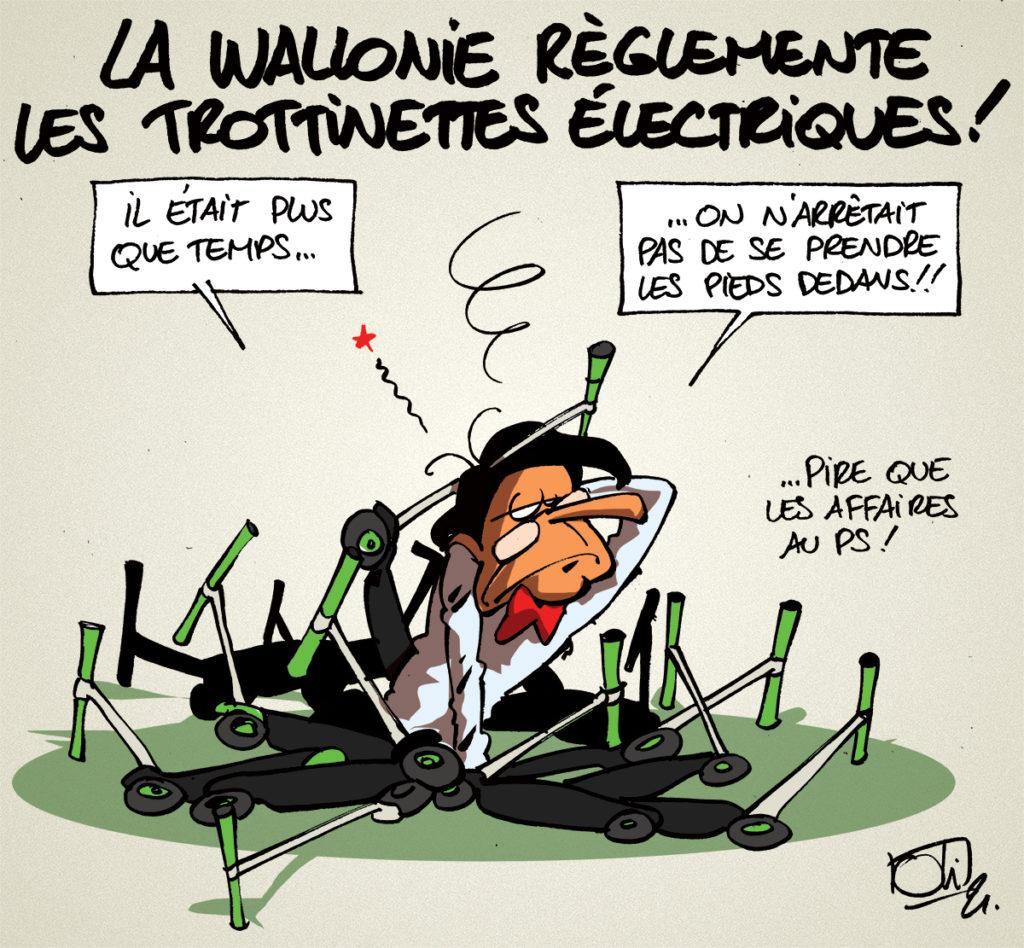 Trottinettes électriques en Wallonie