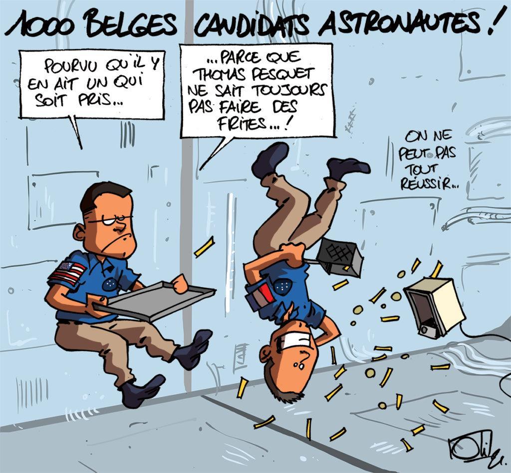 1000 belges veulent être astronautes !