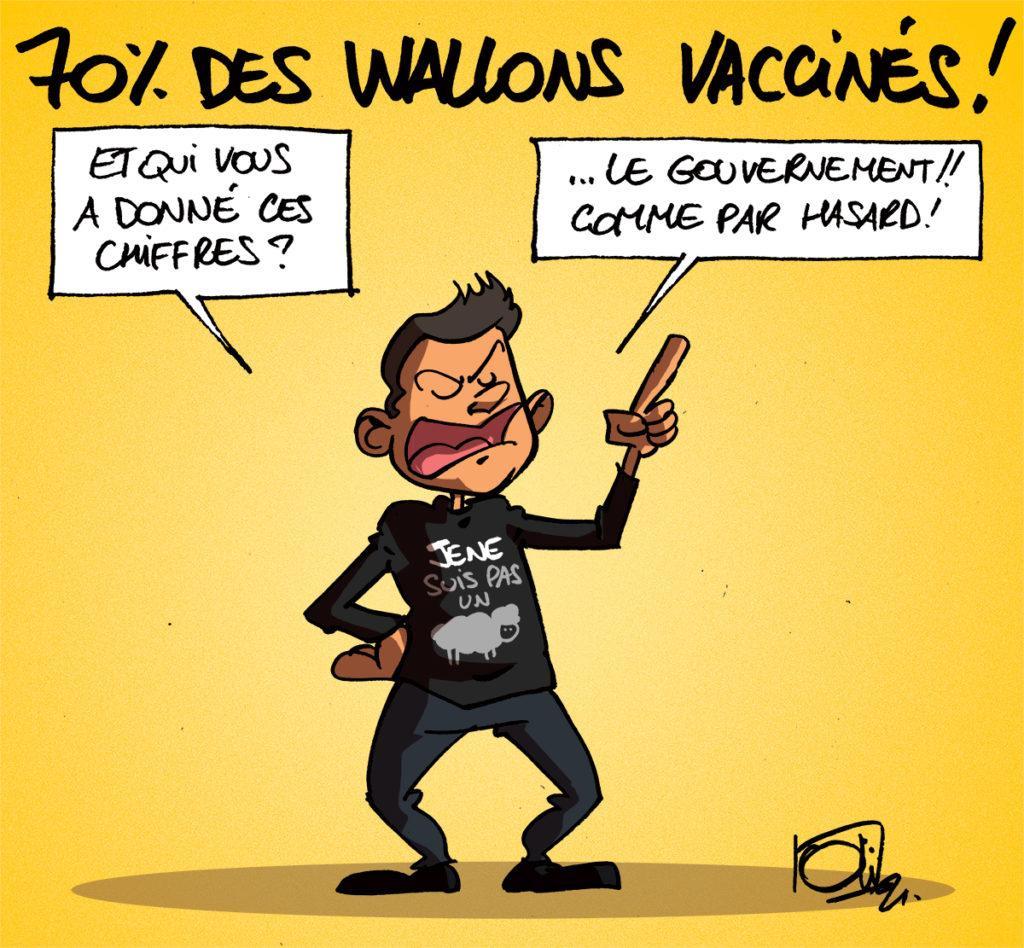 70% des wallons vaccinés !