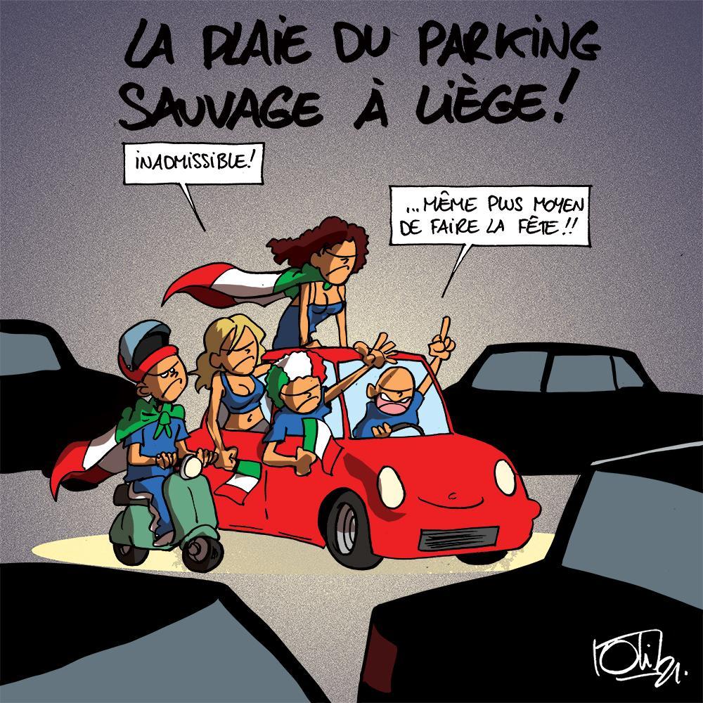 Parking sauvage !