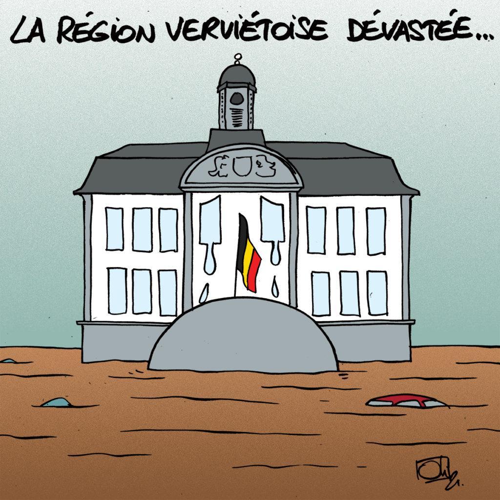 La région verviétoise dévastée aussi...
